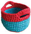 BAS1 - Crochet Baskets Mini to Jumbo