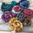 SPI - Hand dyed Merino Braids per 100gram
